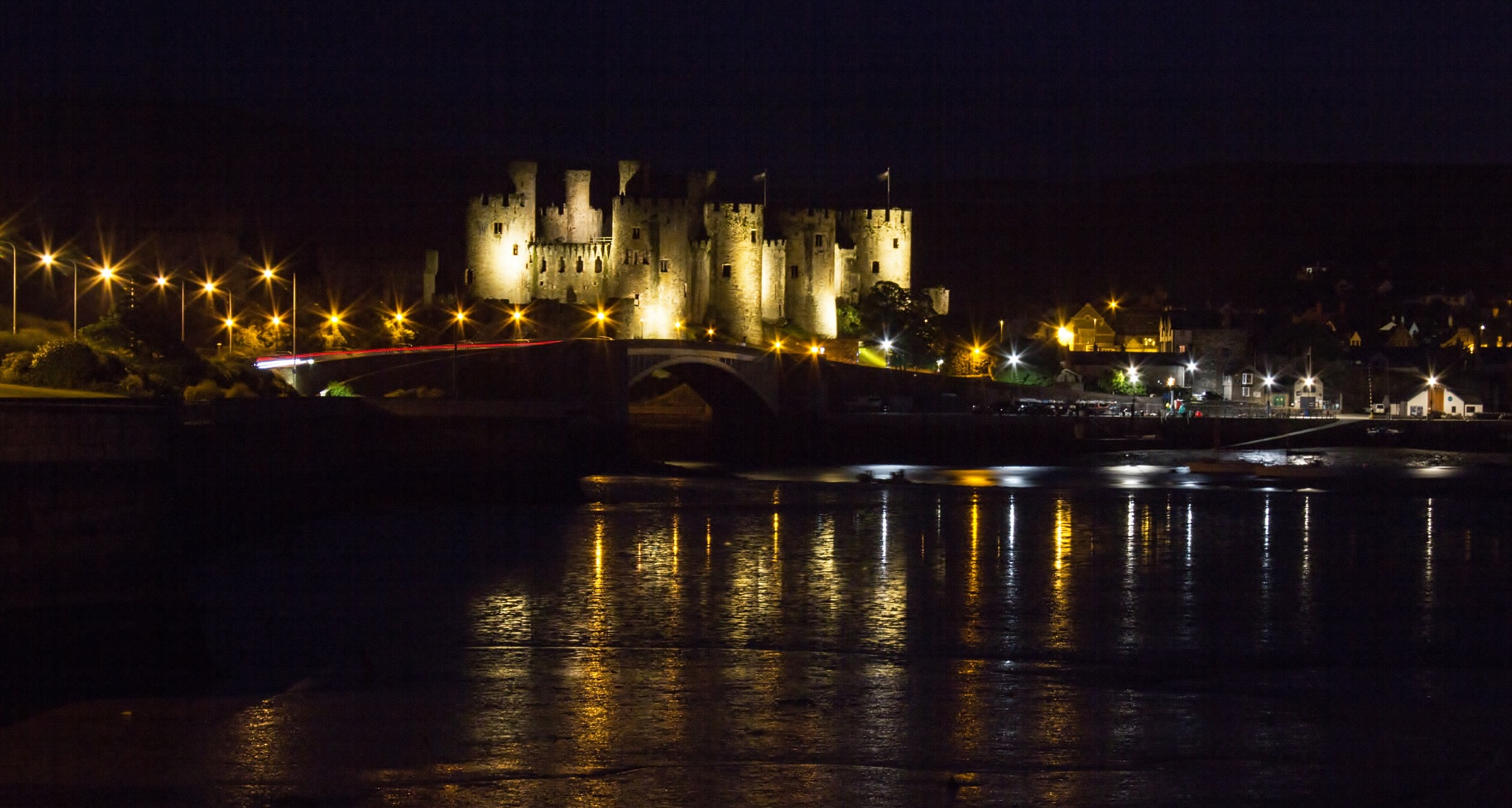 Conwy Castle, North Wales. by Alan Gaines