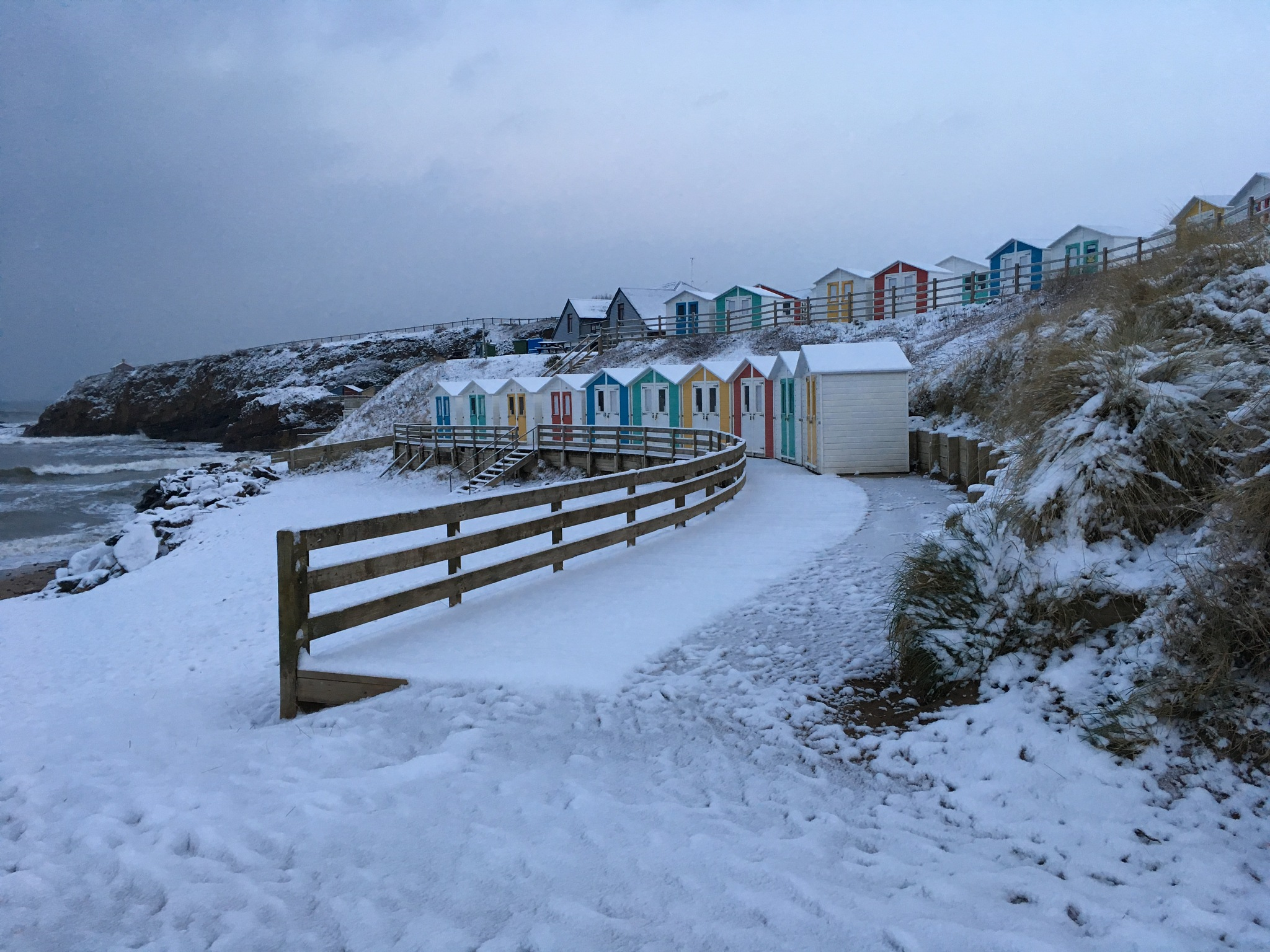 Snow in Cornwall  by Budebuddy