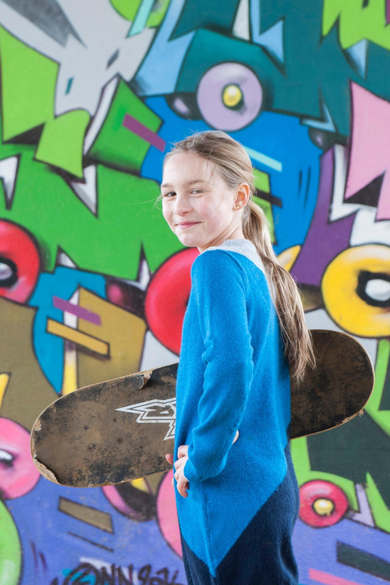 Photo in Street Photography #graffiti #street art #brussels #skate board #youth #girl #smile #fun