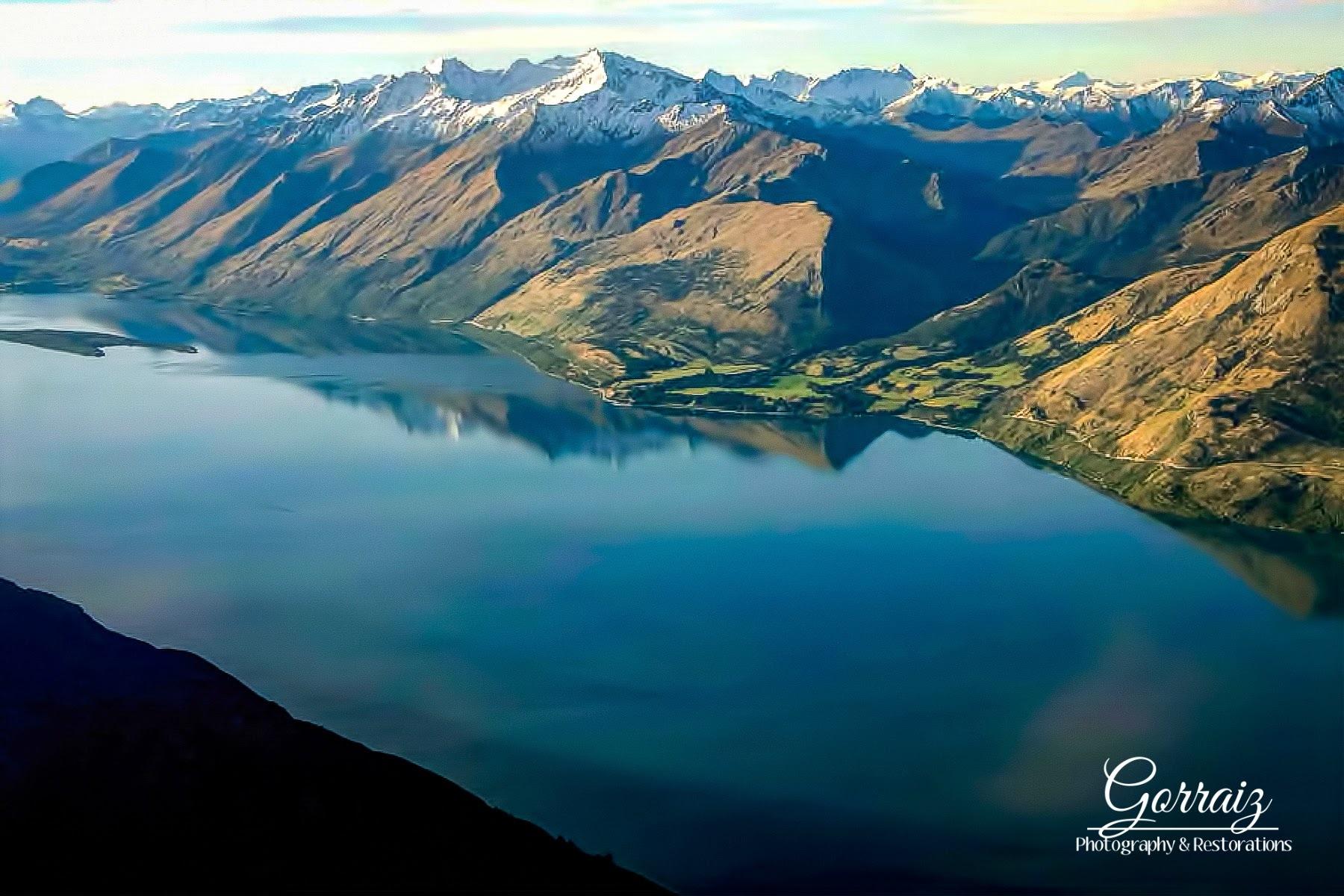 Lake in New Zealand. by Alyssa Gorraiz