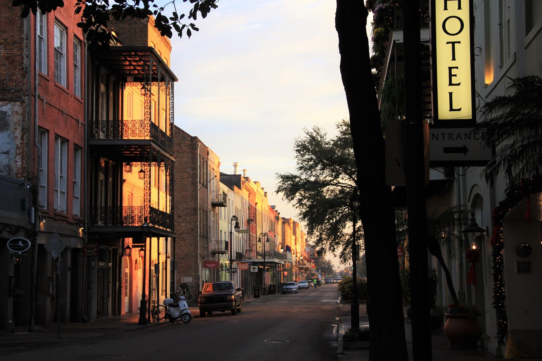 French Quarter of New Orleans, LA at Sunrise by Kreg De Groff