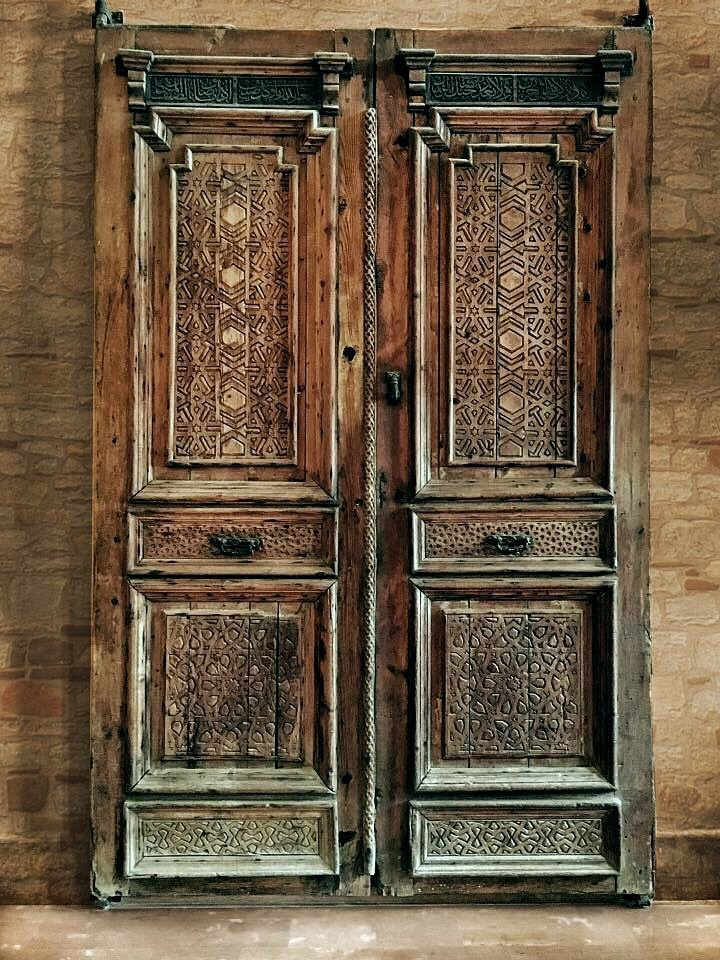 Old wooden antique door ( Egyptian Art )   by Lamia Khalil