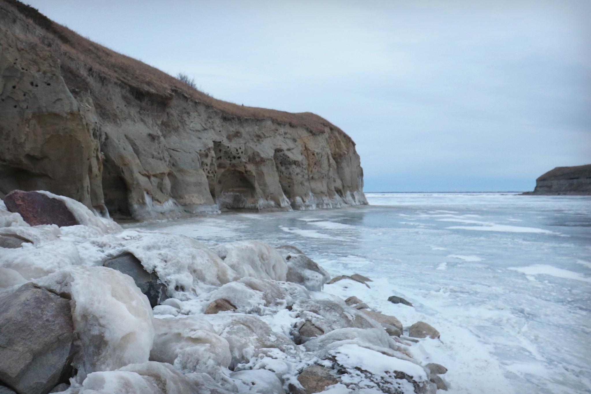 Frozen Erosion by Theresa Mallory
