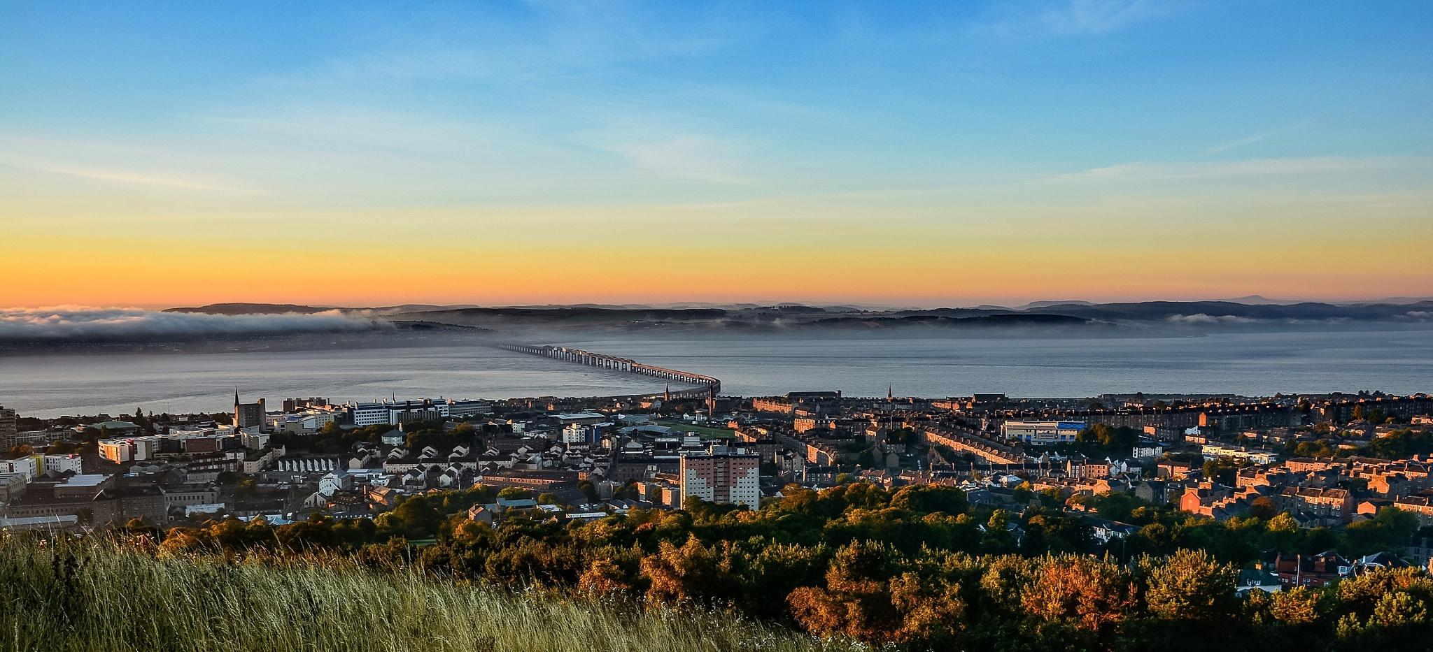 Tay Rail Bridge Dundee Scotland by Jock Elliott
