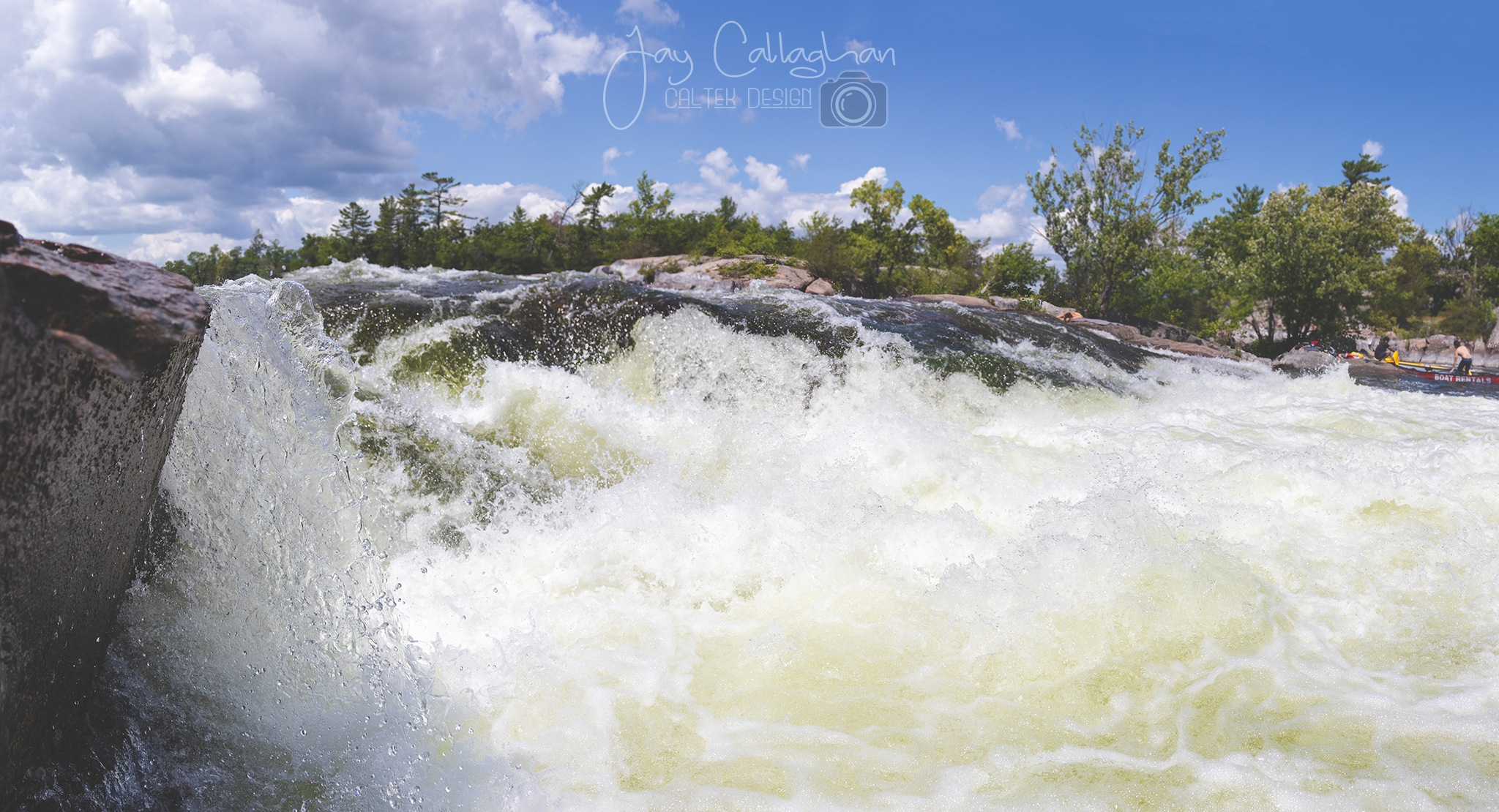 Burleigh Falls in July by Jay Callaghan