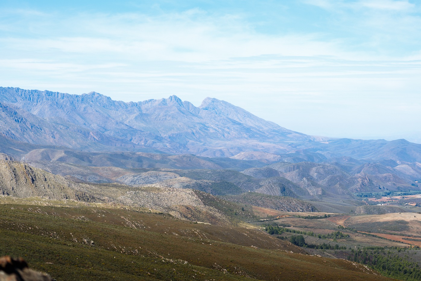 The view of the mountains upon mountains by Charissa de Scande Lotter