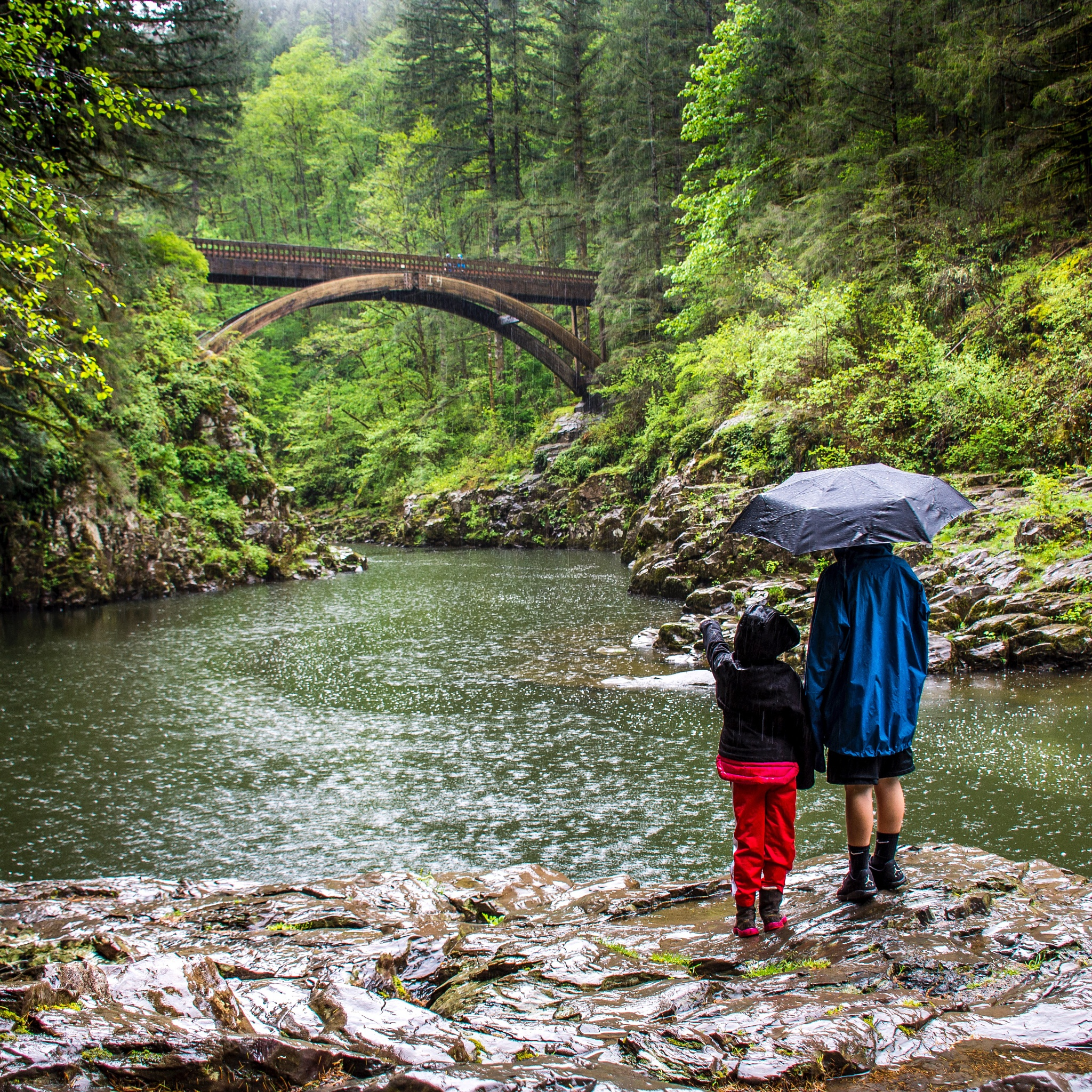 Rain or shine, anytime is good to be outside! by Jamie Hutchinson