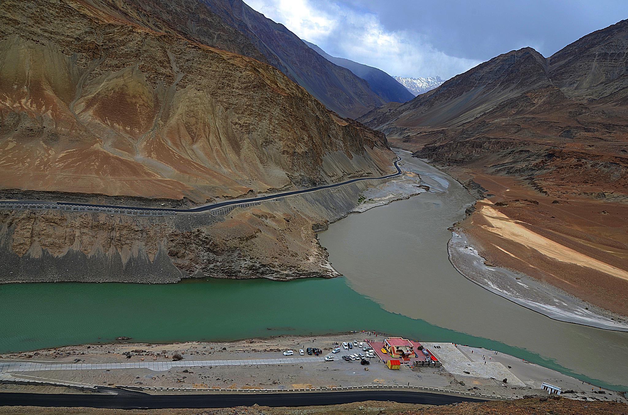 The Confluence of the River Indus and Zanskar by Aveik Dk