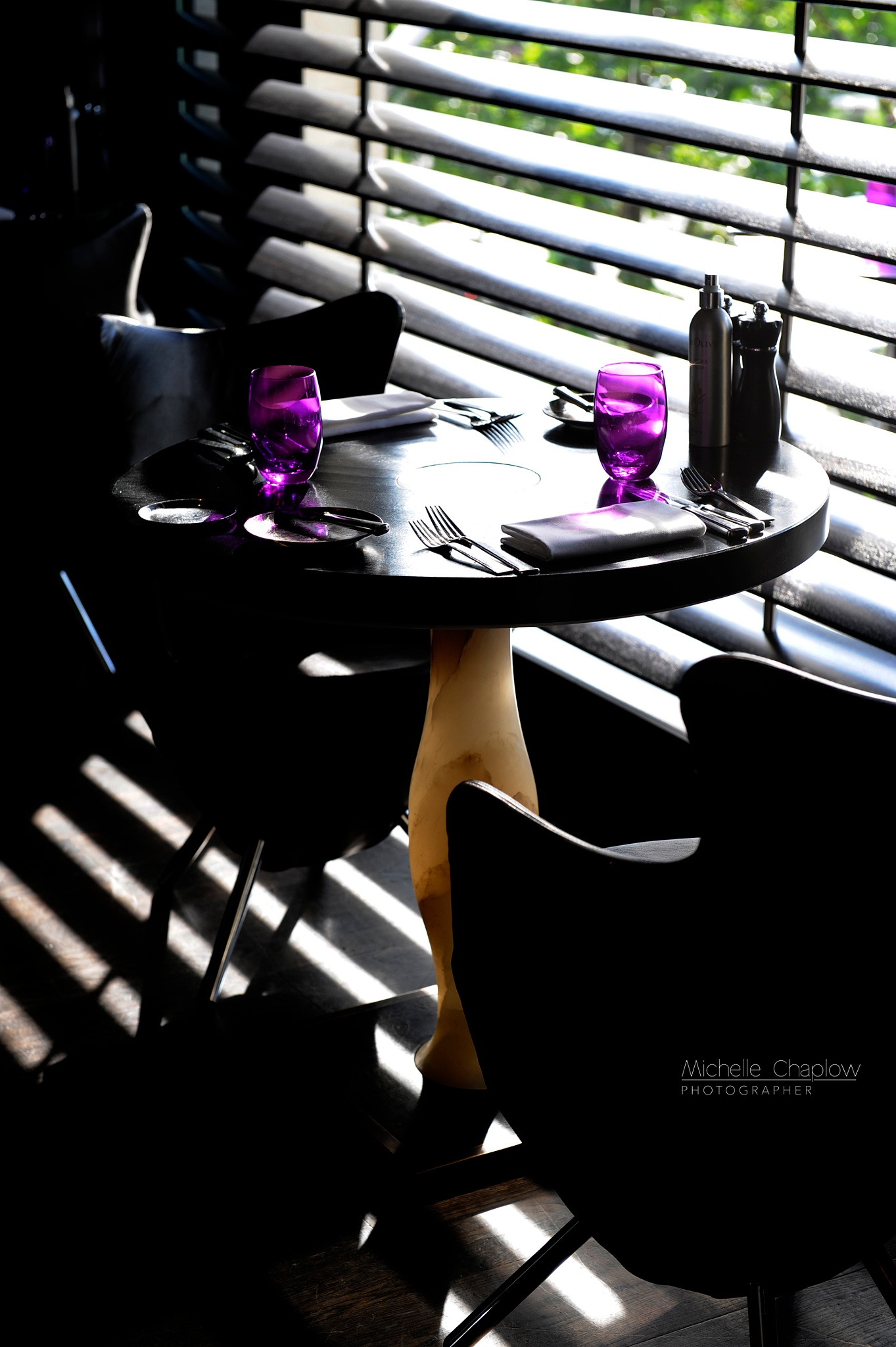 Table for two at the Sofitel, Le Louise by michellechaplow