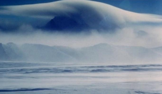 Antarctic landscape and Sky by Hallgrim Ødegård