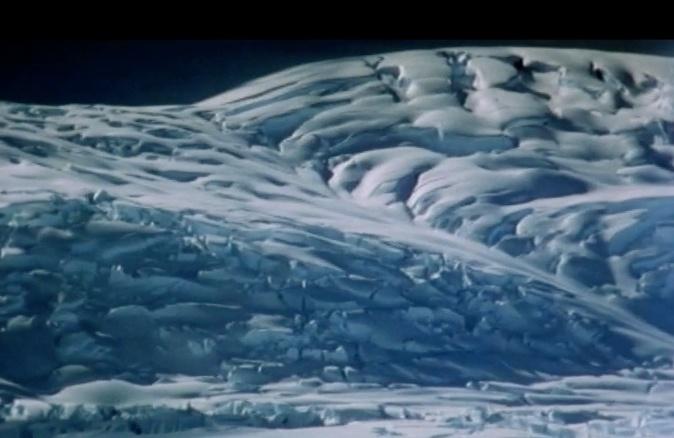 Antarctica glacier at night by Hallgrim Ødegård