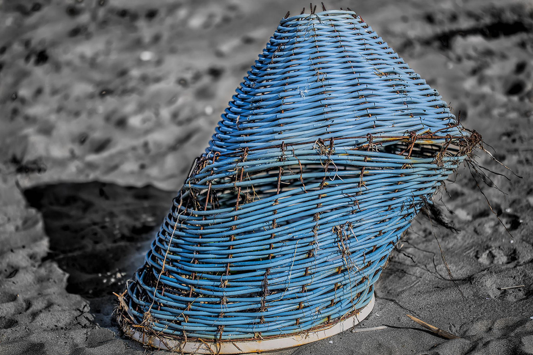 basket on the beach by Michele Vitulano