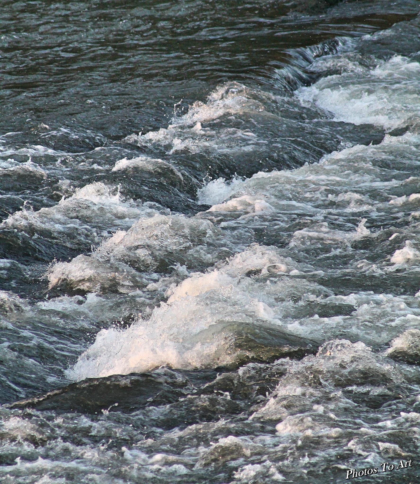 running water by Calvin Burdette
