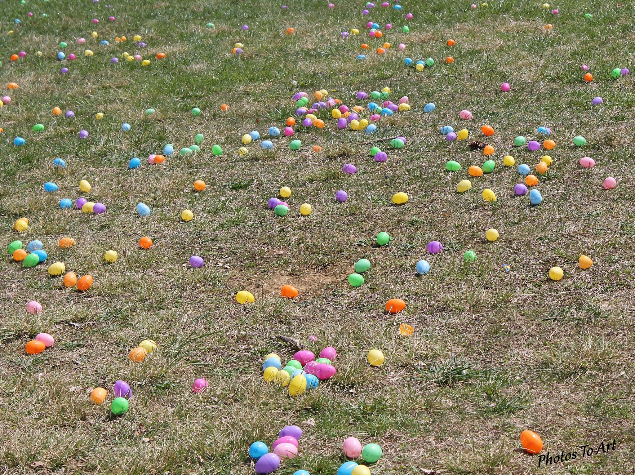 Easter eggs by Calvin Burdette