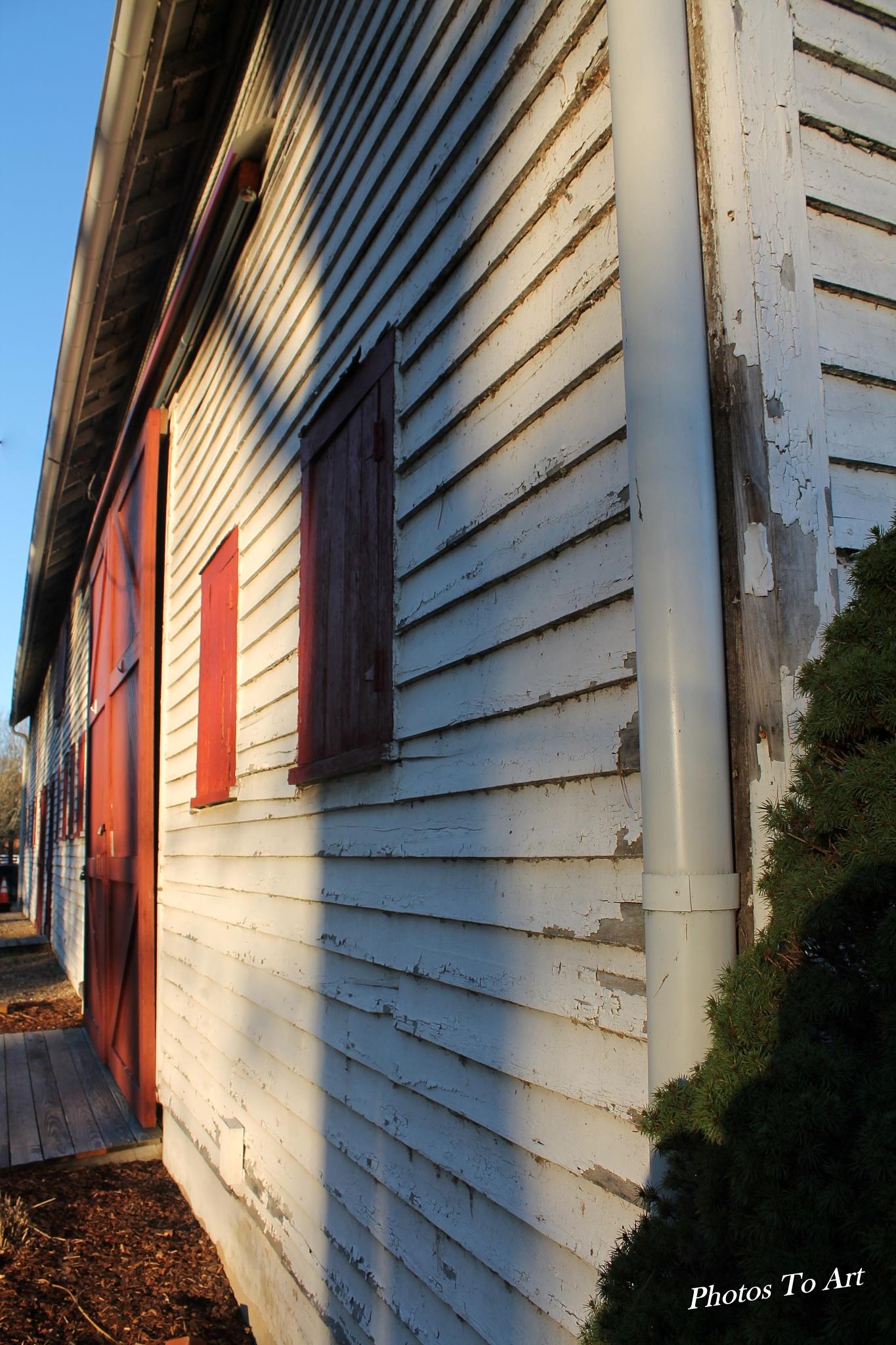 back of the barn by Calvin Burdette