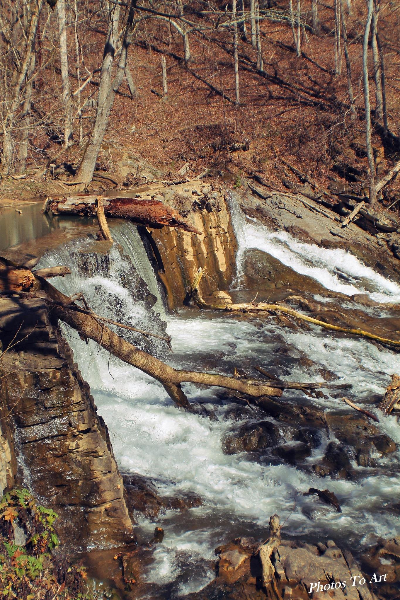 old stone dam by Calvin Burdette