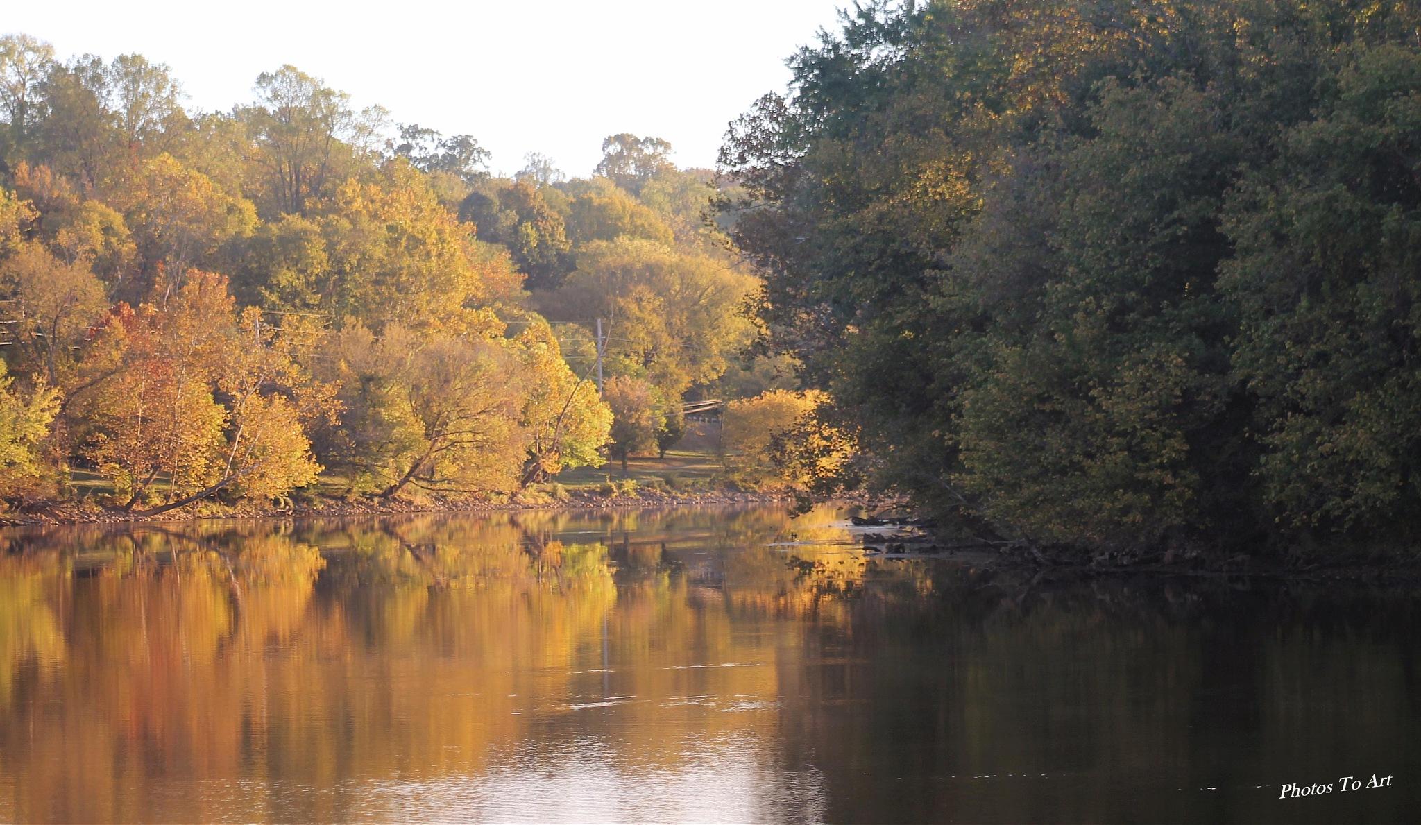 color along the banks by Calvin Burdette