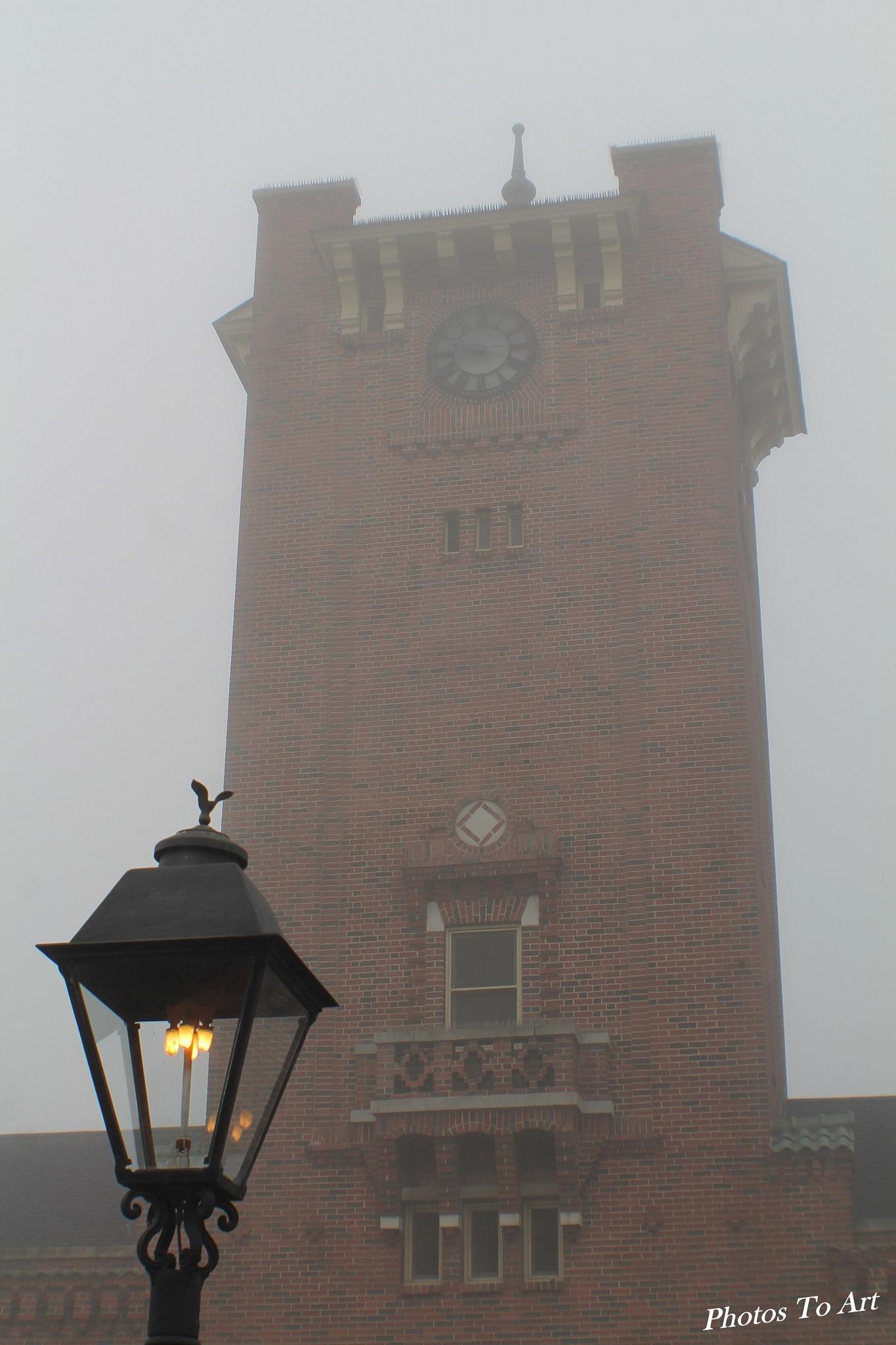 a light in the fog by Calvin Burdette