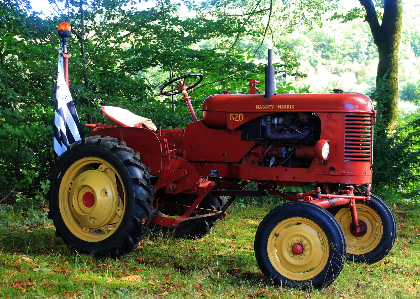 big red tractor by Rob Helliker