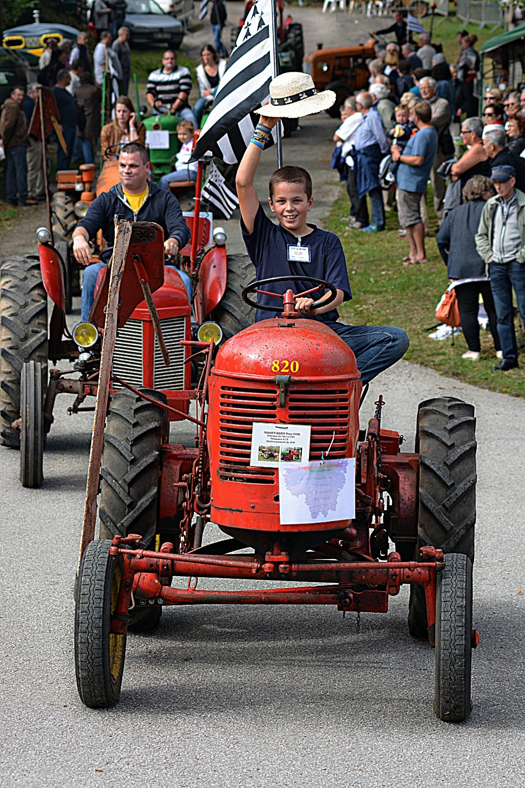 hats of to the little red tractor by Rob Helliker