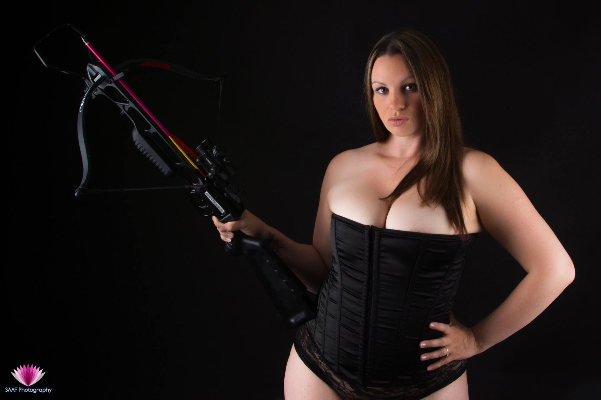 Photo in Portrait #boudoir #corset #crossbow #lucy #auger-forbes #saaf