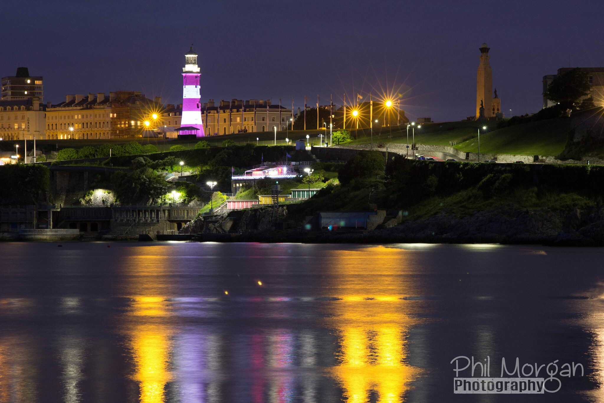 Plymouth at night by Phil Morgan