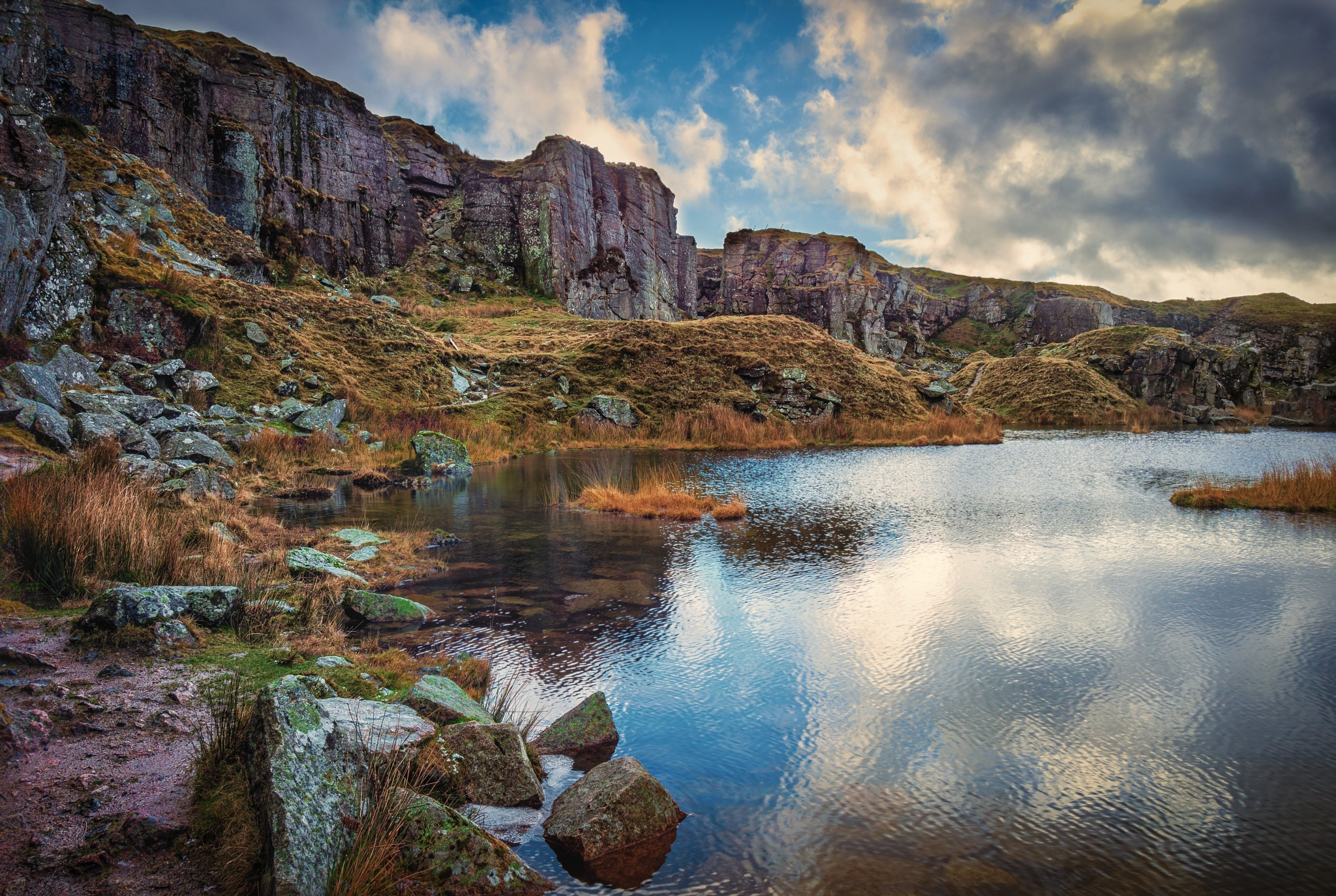 Deep in the quarry by Phil Morgan