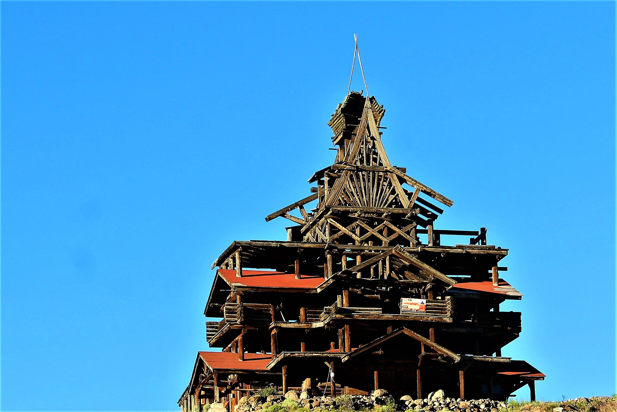 old oil well or old house? or both? by Jim Thoma