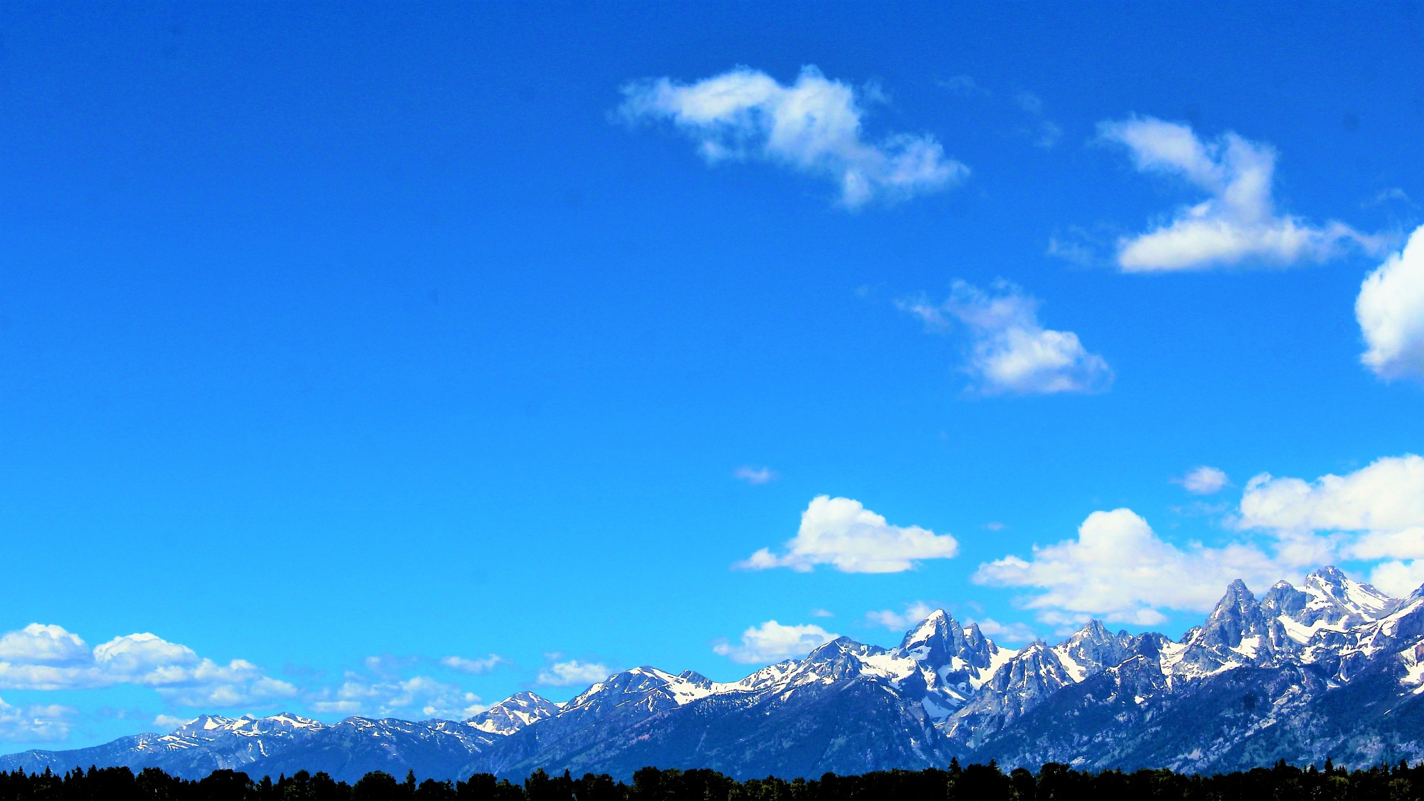 Part of the Grand Tetons by Jim Thoma
