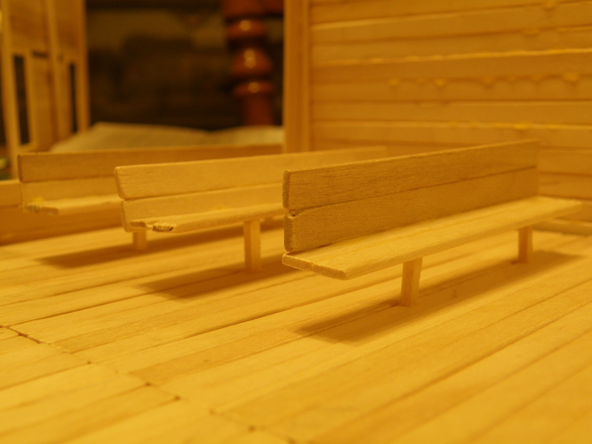 seats for the wooden church by N4CER70