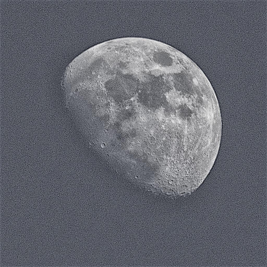 Gibbous moon by Tony Otley