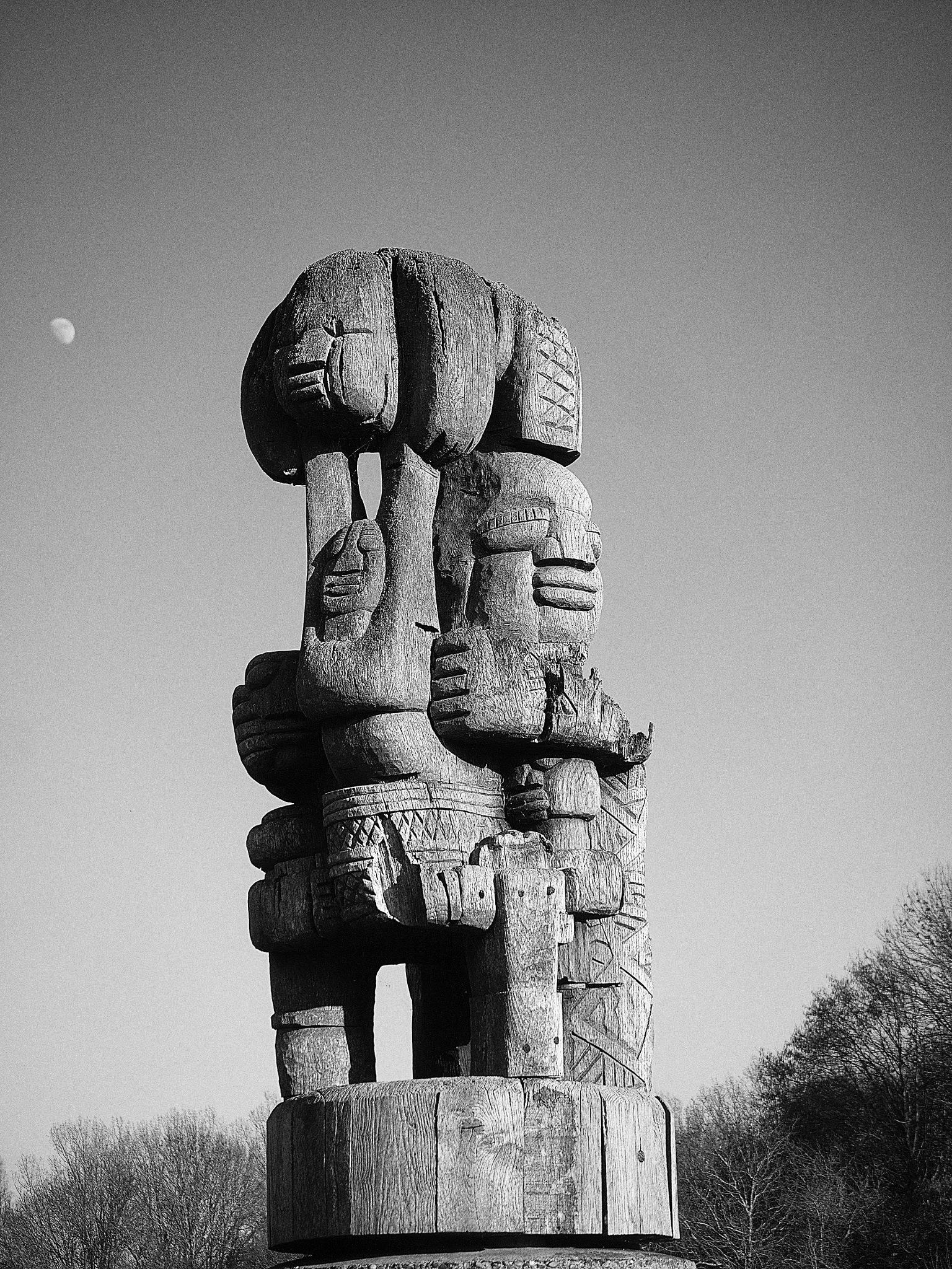 Photo in Random #sculpture #moon #totem #woodcraft