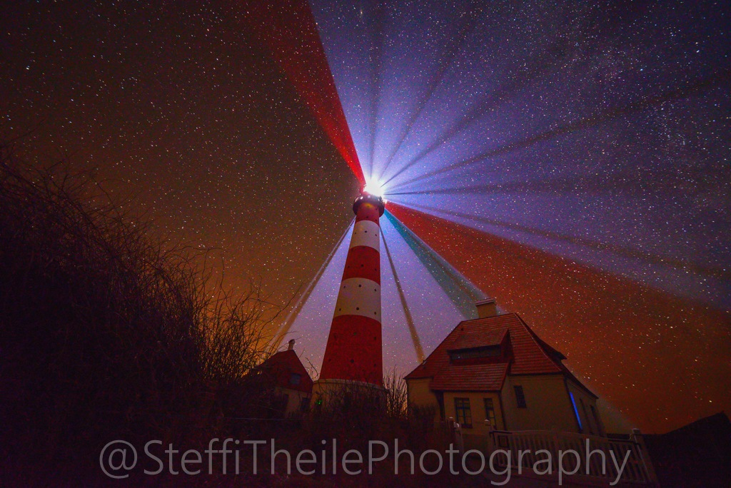 Lighthouse,Westerhever in the northof germany by Stheile