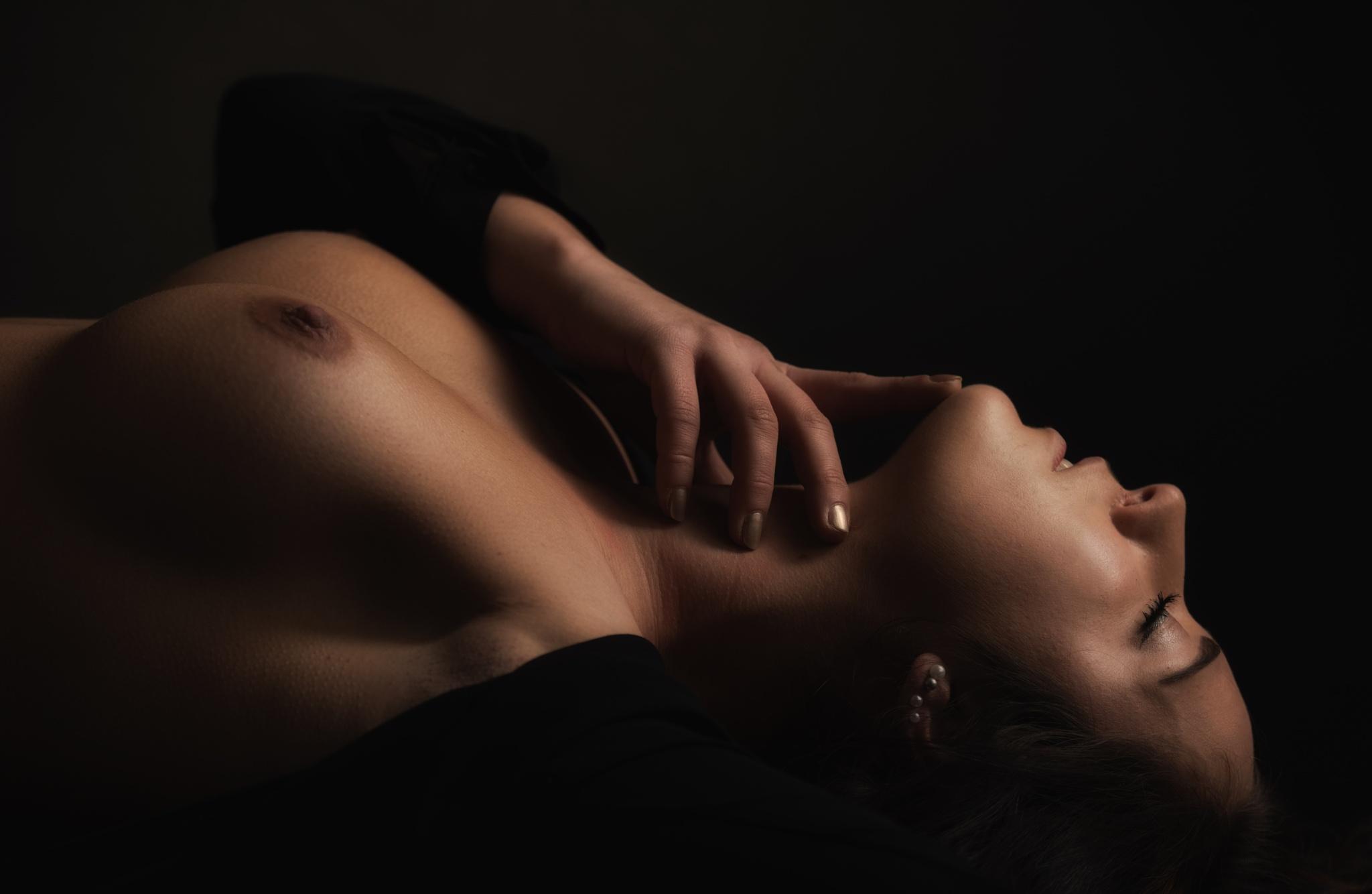 Photo in Nude #girl - or ice cold hand #nude #big titts #breast #nipple #fine art