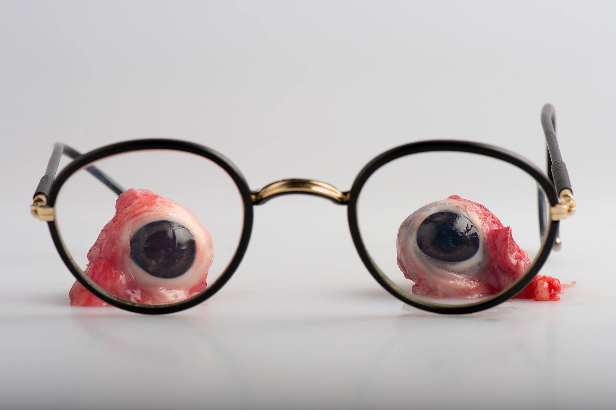 Photo in Abstract #pig eyes and glasses #eyes #eyeballs #glasses #table top
