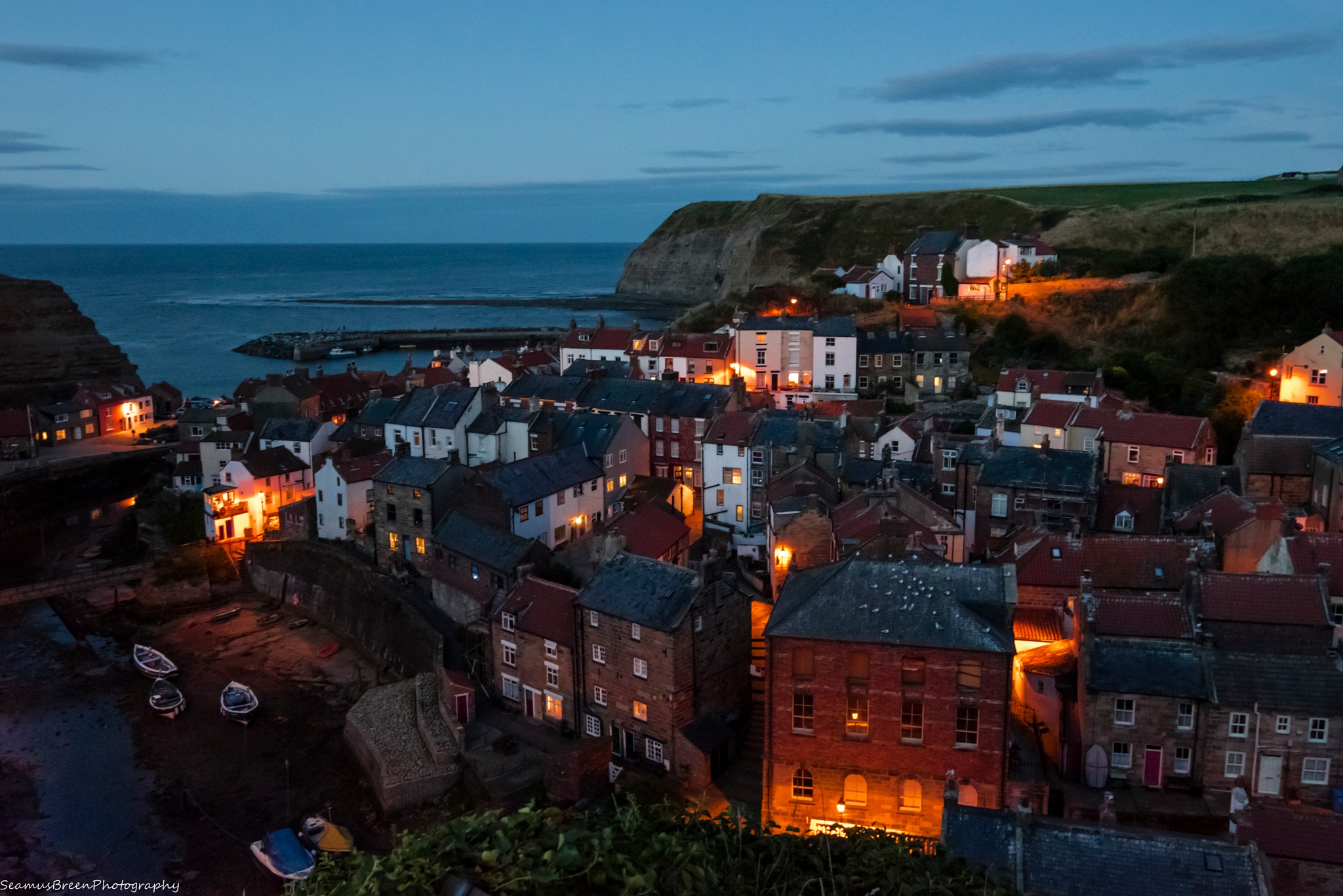 Staithes at Twilight by seamusbreenphotos
