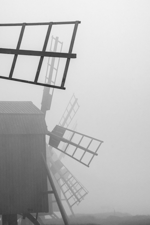 Mills in mist by elisah