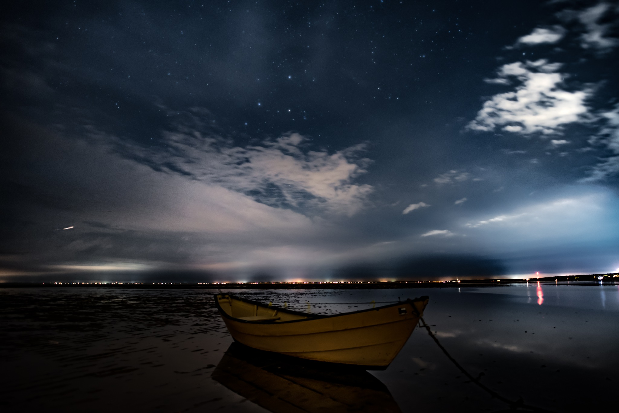 Alone at night wrapped in the company above by Todd Hyde