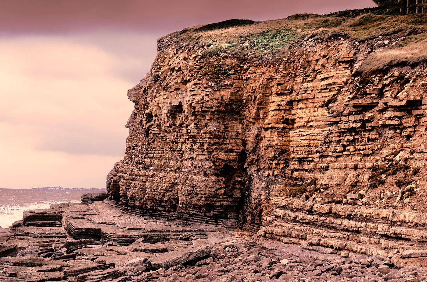 Jurasic cliff by edwinphillips