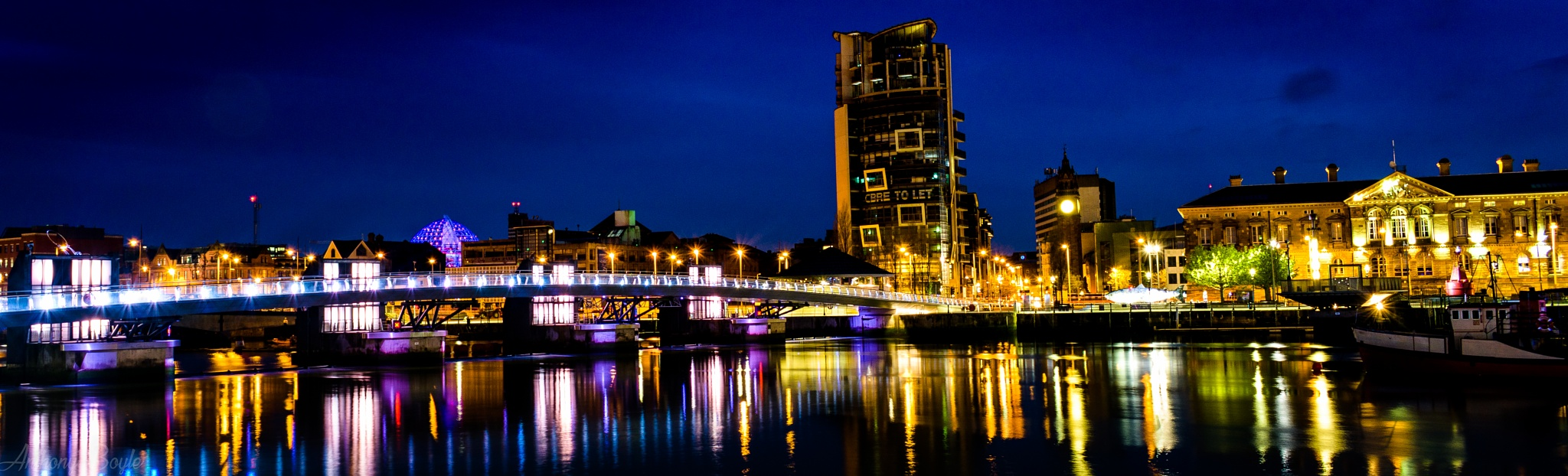 Belfast at Night by Anthony Boyle