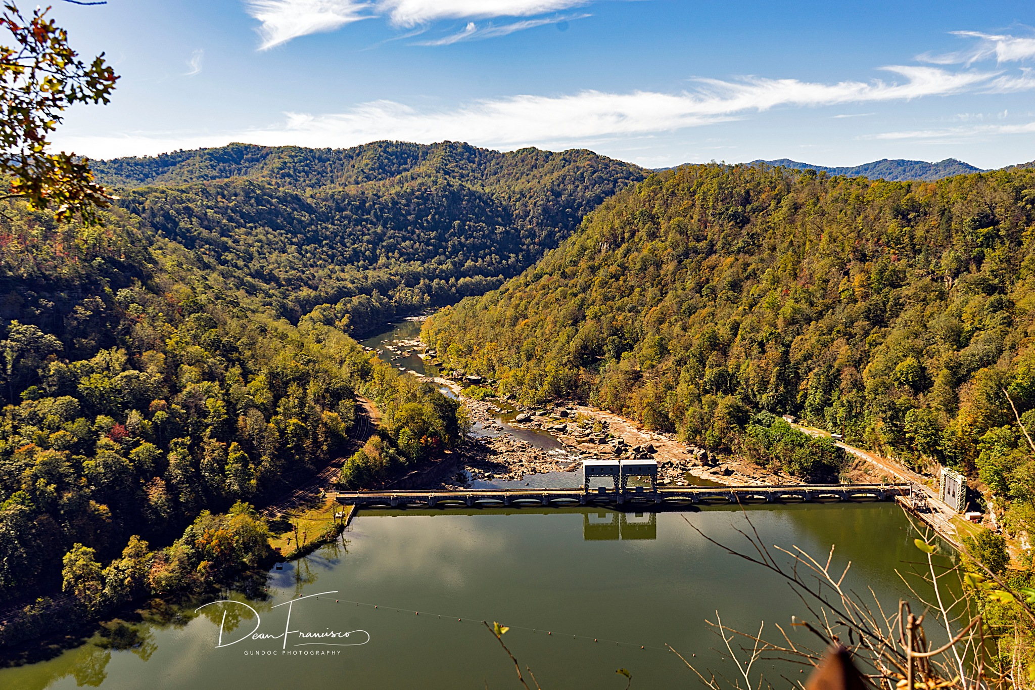 Hawks Nest Dam on the New river WV by Dean Francisco