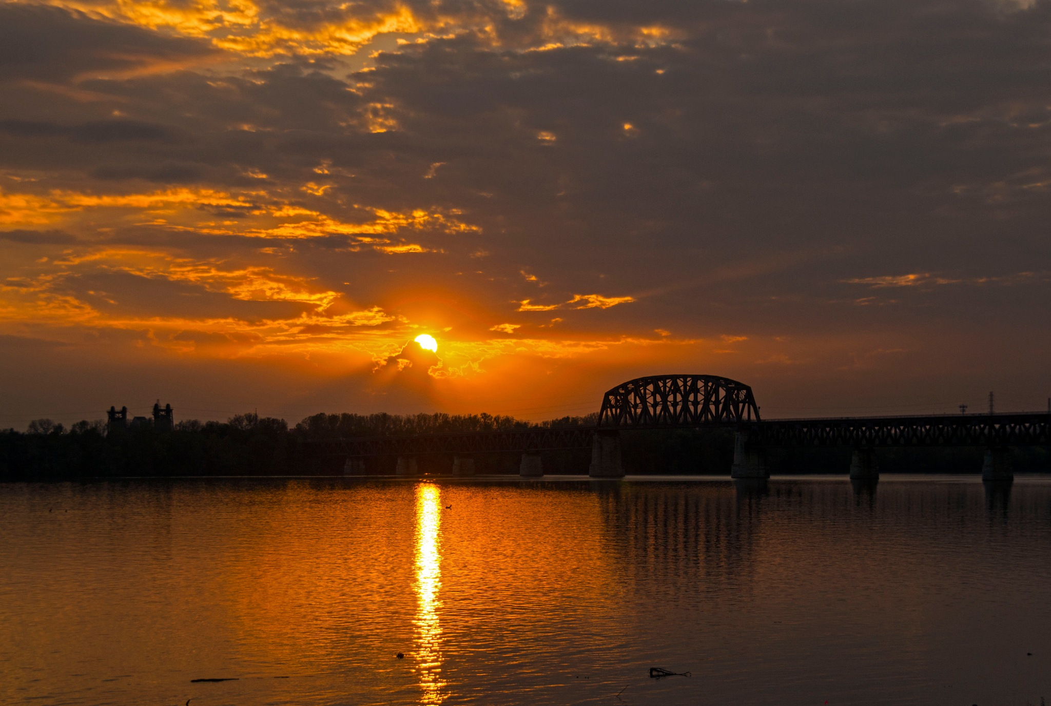 Reflection of the Ohio River by Dean Francisco
