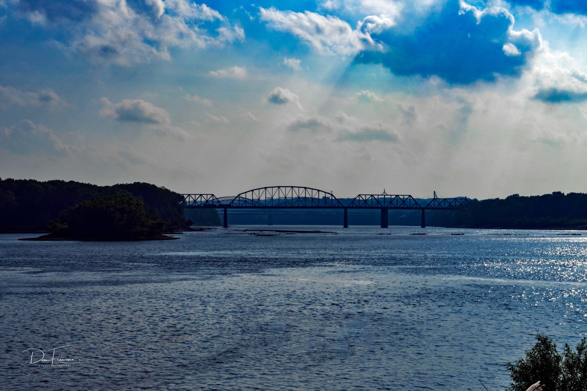 Norfolk Southern RR bridge across the Ohio river by Dean Francisco