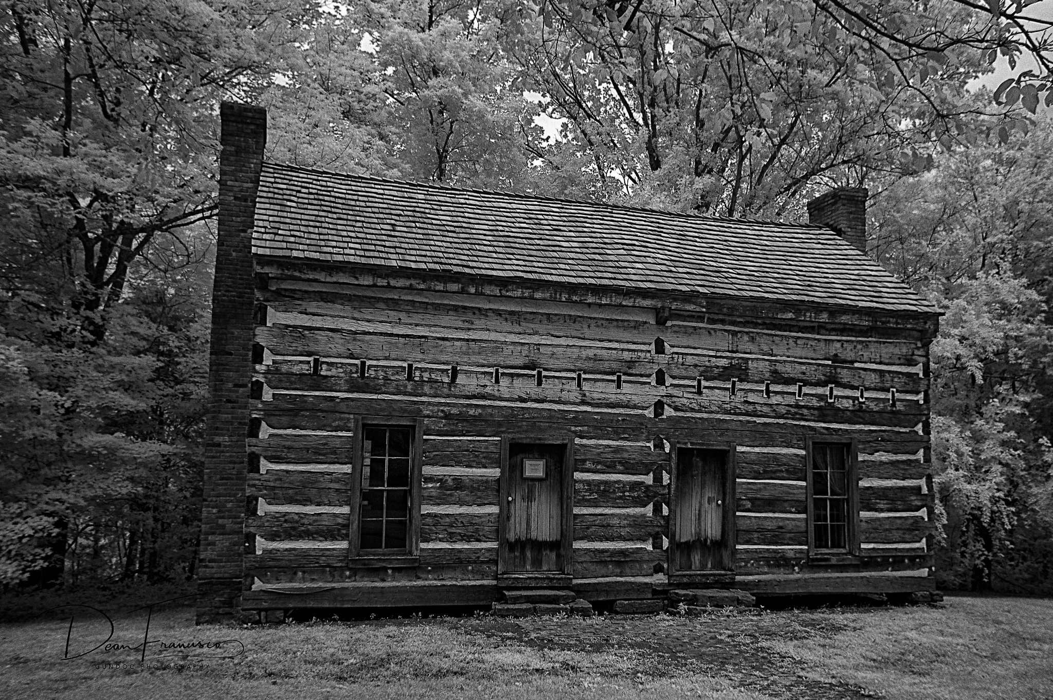 Log Cabin at Green River Overlook by Dean Francisco