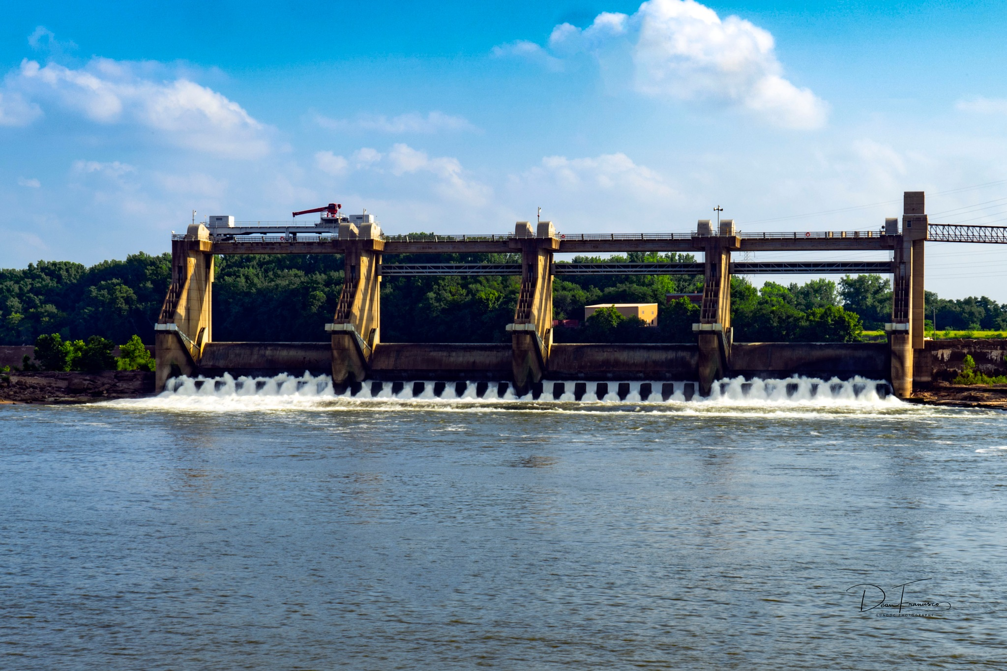 Lower gates of McAlpine lock and dam. by Dean Francisco