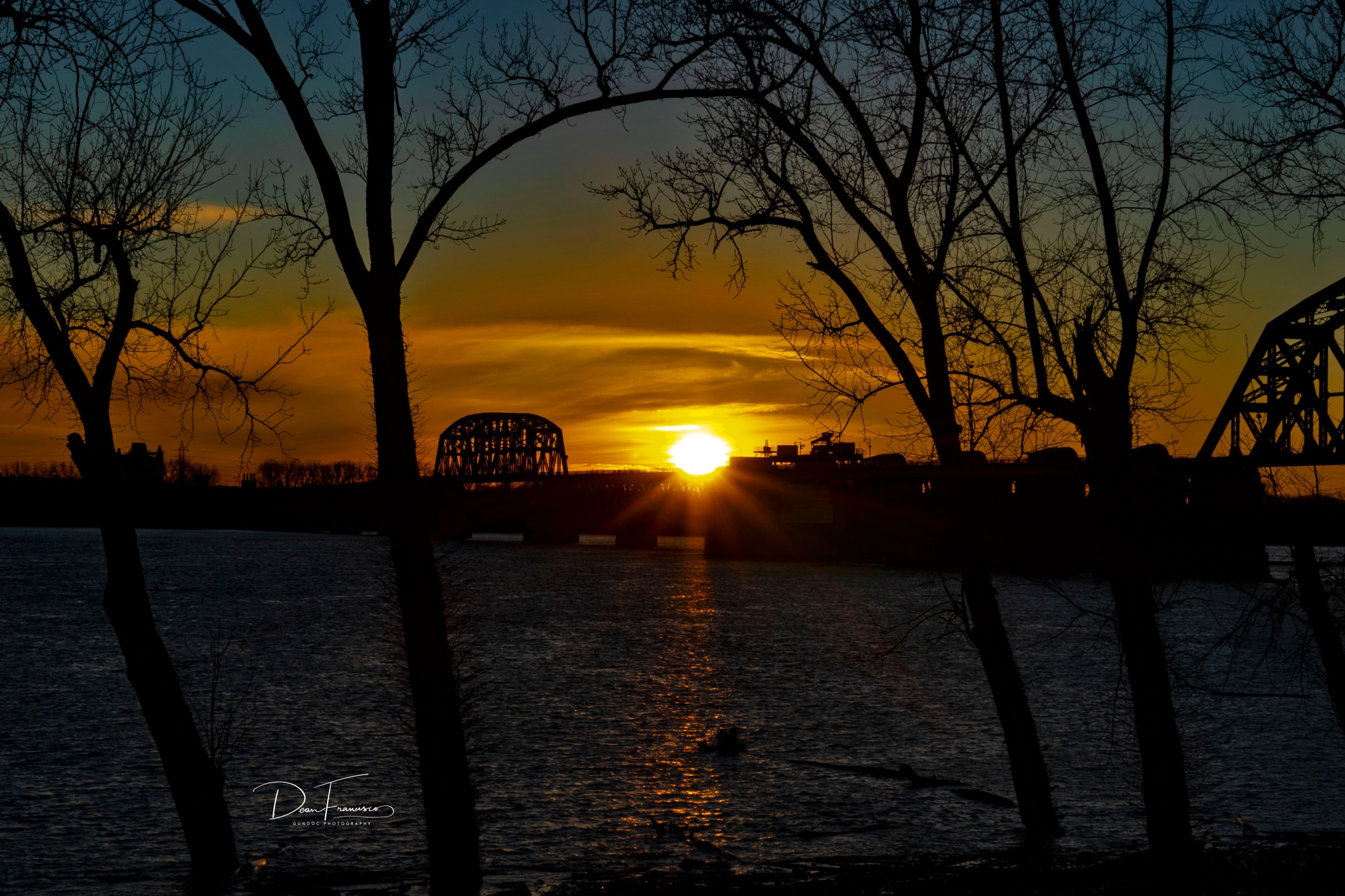 Sunset at the bridge by Dean Francisco