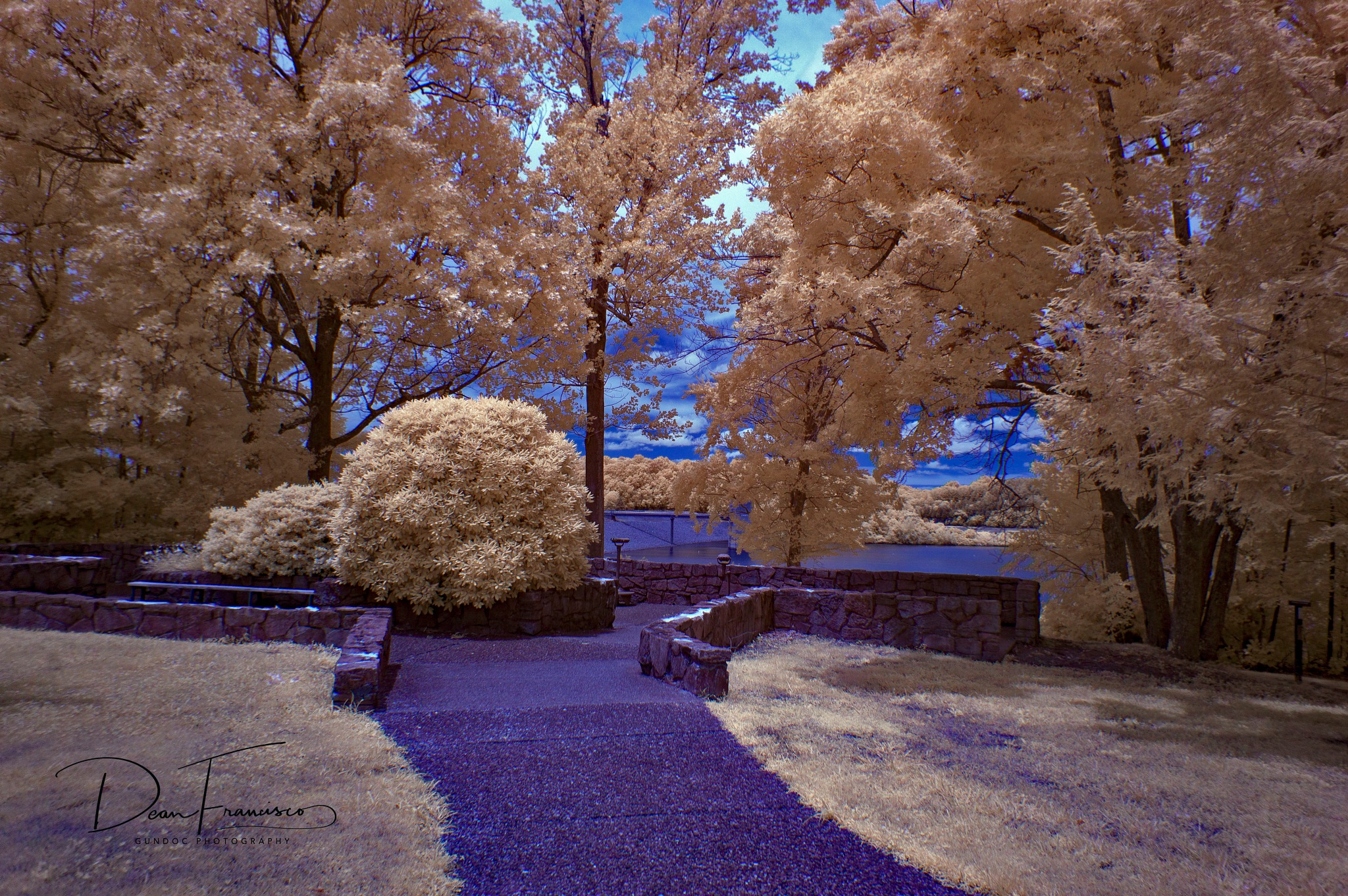 Overlook at Green River Lake in Infrared by Dean Francisco
