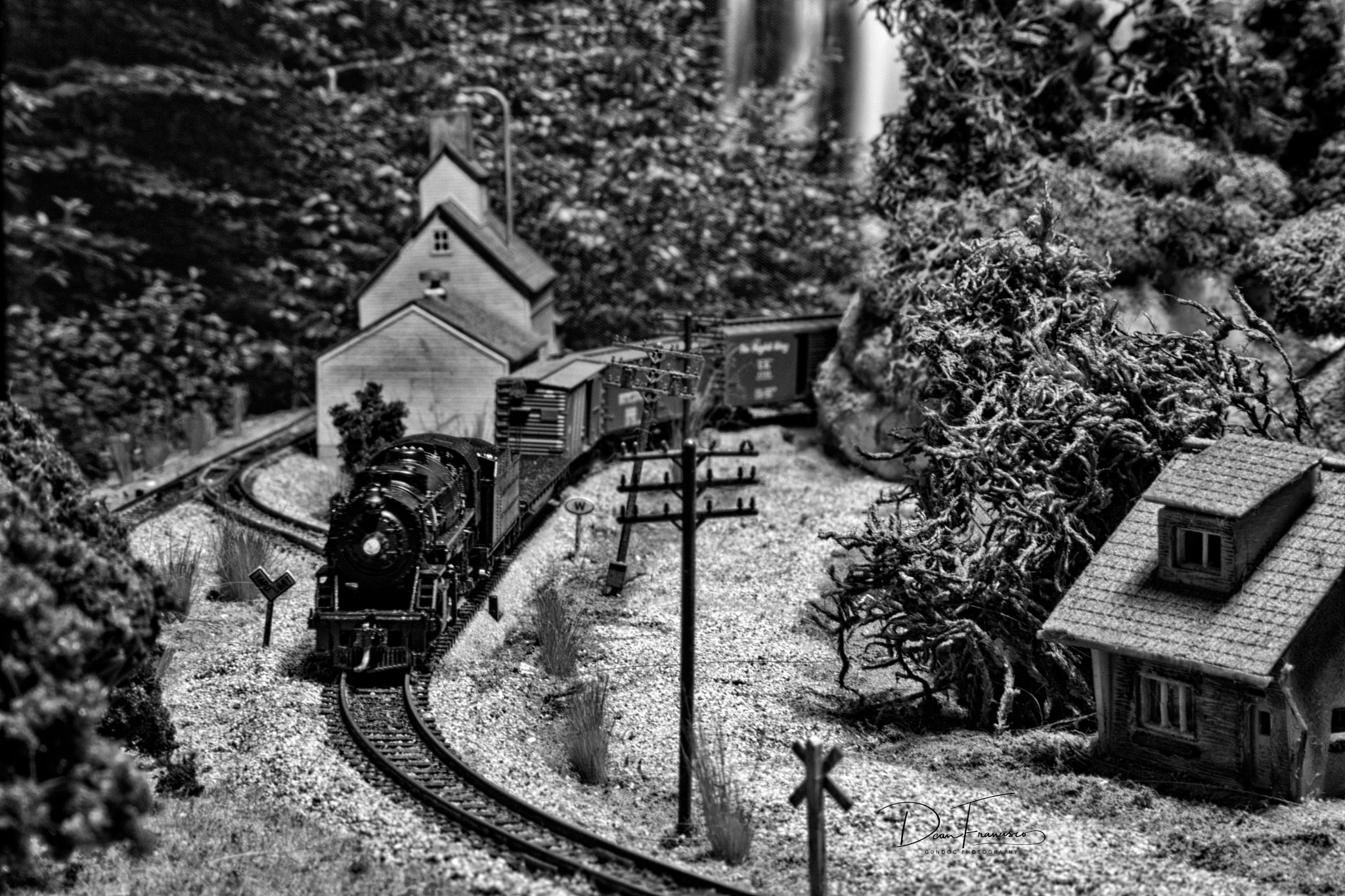 Steam on my N scale layout by Dean Francisco