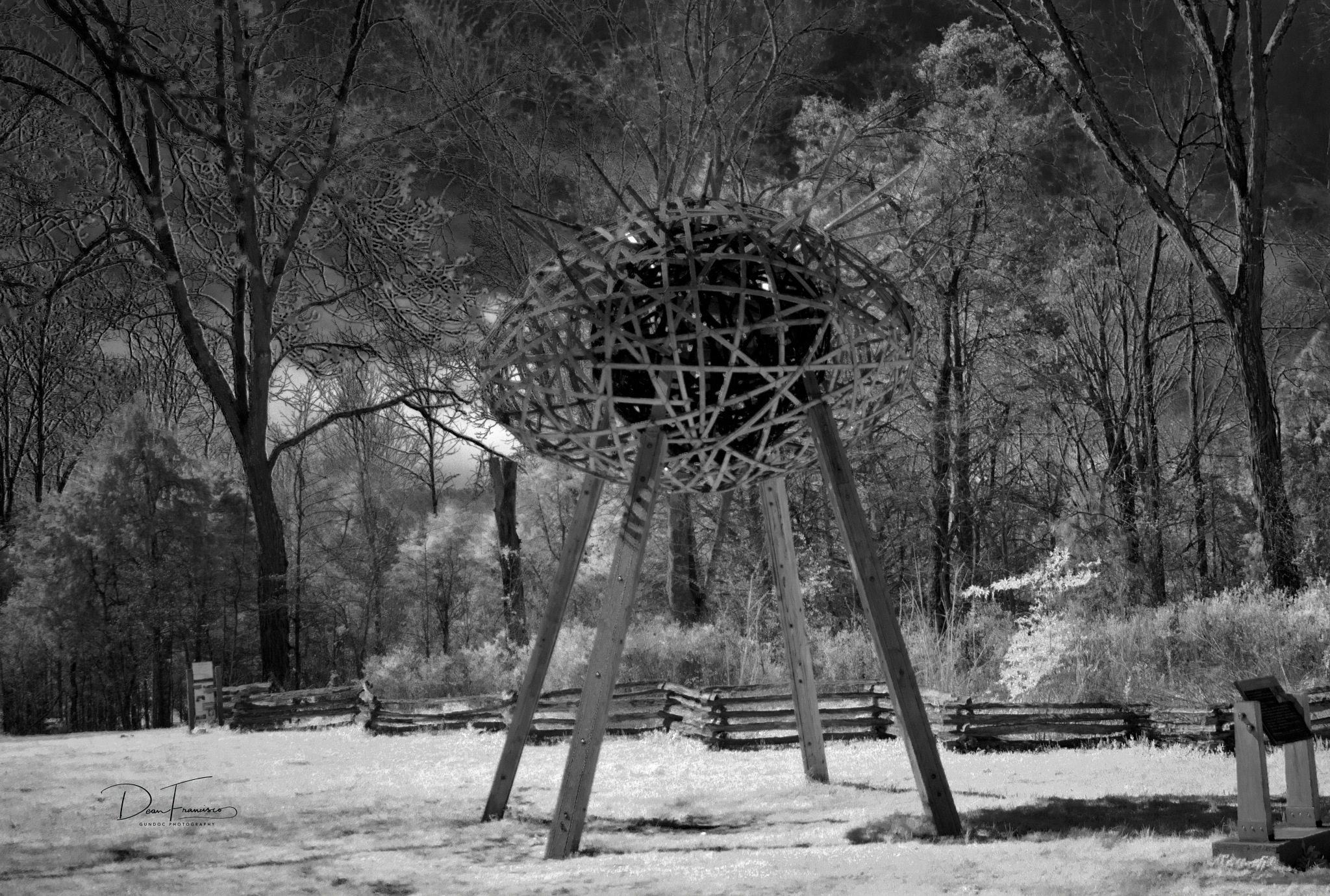 Photo in Black and White #sony #the egg #black and white #infrared