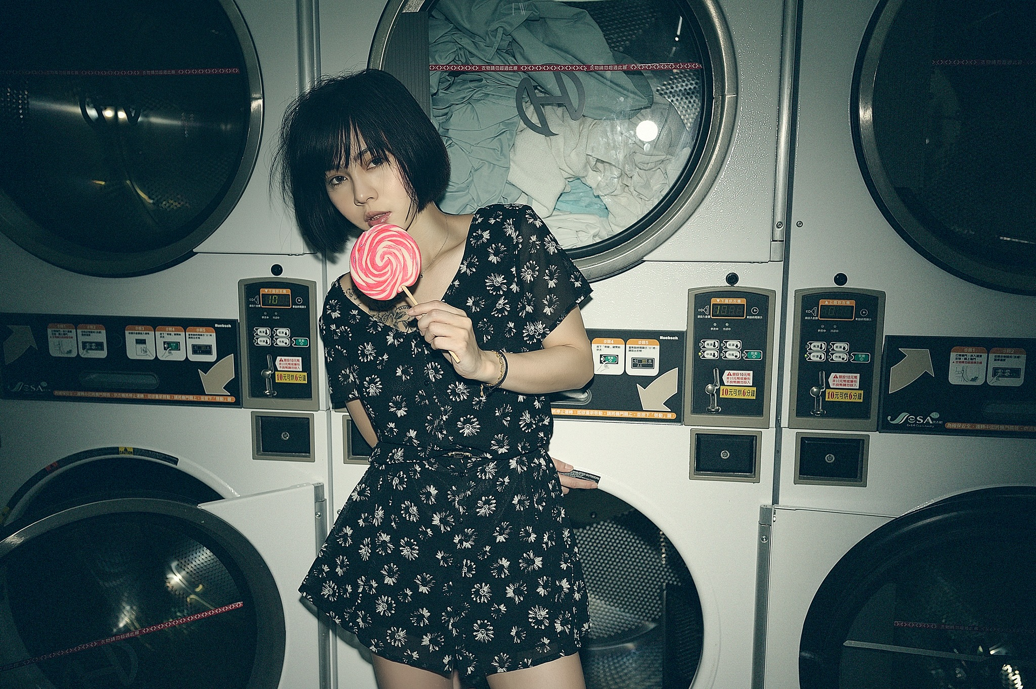 Laundry girl by Yi-Chen Chung